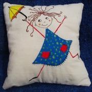 """""""cojineando"""" niña con paraguas"""