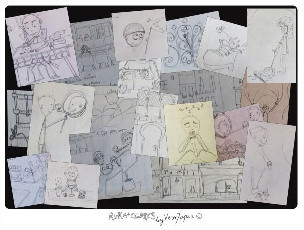 Bocetos de una semana de trabajo